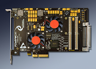 4 lane PCIe to PMC adapter in 1/2 size PCIe card
