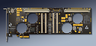 4 lane PCIe to 2 PMC adapter in full size PCIe card